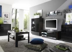 Luxusní obývací sestava Astor A –  wenge / černé sklo