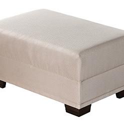 Čalouněný taburet bílý Iliana