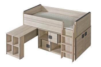 Jednolůžková postel s výsuvným pultem Allarica 19