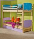 Dětská dřevěná patrová postel Herry
