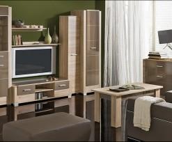 Moderní obývací stěna Korvin 1 – provedení dub