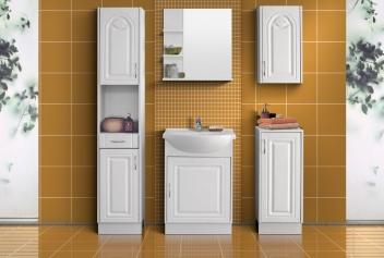 Bílý koupelnový nábytek Tulipa