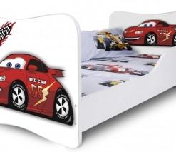 Dětská moderní postel červené Auto