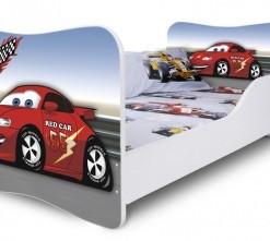 Dětská postel červené Auto