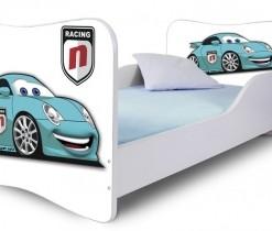 Dětská moderní postel modré Auto