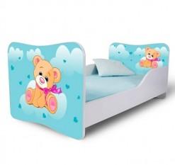 Dětská jednolůžková postel s modrým medvídkem