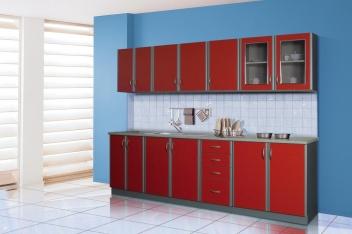 Červená kuchyňská linka Evelína