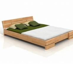 Manželská postel Erland z masivu buku