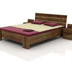 Borovicová postel s úložným prostorem Dagny