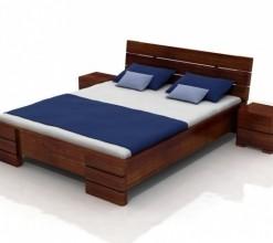 Borovicová postel s úložným prostorem Maurits