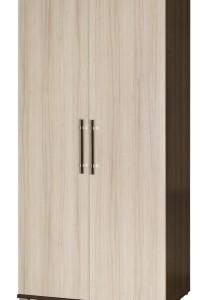 Dvoudveřová šatní skříň do ložnice Oswaldo – provedení jasan
