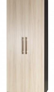 Úzká dvoudveřová šatní skříň lamino Oswaldo – provedení jasan