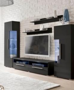 Černá obývací stěna Misty 2