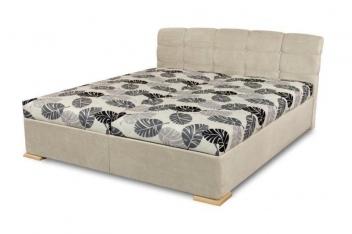 Čalouněná manželská postel Violetta - varianta světlá
