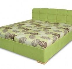 Čalouněná manželská postel Violetta - zelená