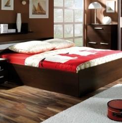Manželská postel Diego – provedení wenge / satén