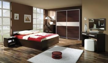 Moderní ložnice Diego 1 – provedení wenge / grass