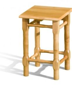 Dřevěný rustikální taburet Milano