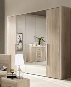 5-dveřová šatní skříň se zrcadly Volinois RM