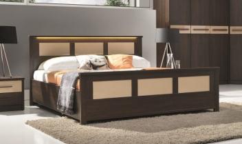 Moderní manželská postel s LED osvětlením  Delora