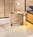 Noční stolek do ložnice Delora – provedení dub/cappuccino