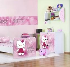 Růžový dětský pokoj pro holku Miss Kitty
