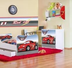 Nábytek do dětského pokoje pro kluka červené Auto
