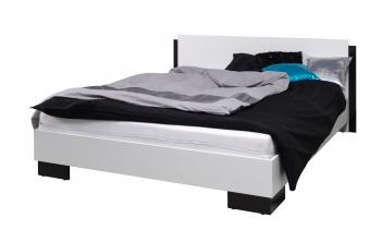 Černobílá manželská postel Darvin 160 x 200 cm