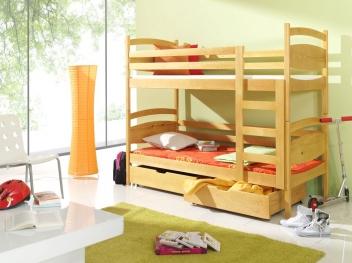 Dětská patrová postel z masivu Máša
