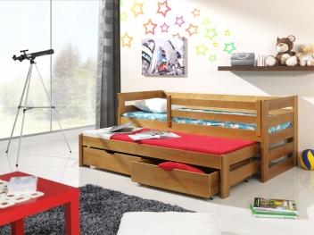 Dětská postel s přistýlkou z masivu Sinoma