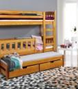 Patrová postel s přistýlkou z masivu Arinka