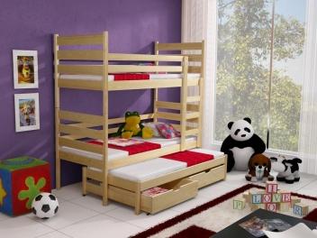 Dětská patrová postel s přistýlkou Sebastien