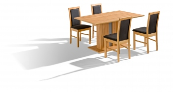 Moderní jídelní set 4+1 Leroy