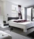 Moderní ložnice Veria Boc – provedení bílá / černý ořech