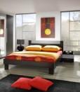 Moderní ložnice v odstínu wenge Veria we