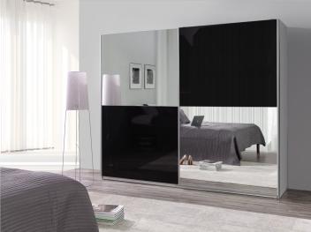 Zrcadlová šatní skříň Darvin 22 s posuvnými dveřmi
