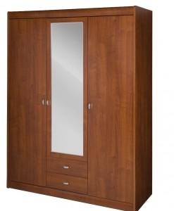 Šatní skříň Aleta 2 se zrcadlovými dveřmi a šuplíky