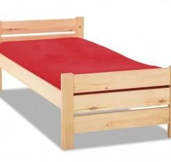 Jednoduchá postel z masivu Olivia
