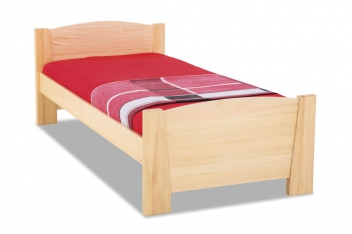 Dřevěná postel s čely Marian