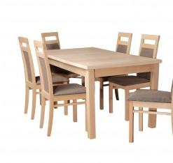 Dřevěný jídelní set 6+1 Alvita