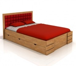 Buková postel Erland 5 s úložnými šuplíky