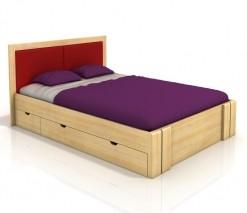 Borovicová manželská postel Toril 7 ve skandinávském stylu