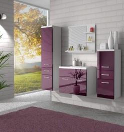Koupelnový nábytek Horace 4 - bílá / fialový lesk