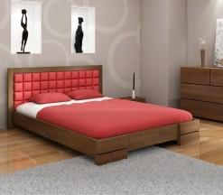 Dřevěná ložnice Erland 1 s čalouněnou manželskou postelí