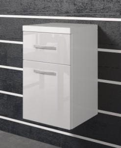 Dolní zásuvková skříňka Horace - bílá / bílý lesk