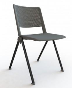 Plastová stohovatelná konferenční židle Zora 1