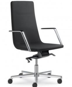 Elegantní kancelářské křeslo Sandra 2 s pryžovými kolečky
