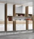 Koupelnový nábytek Horace - provedení dub sonoma / bílý lesk