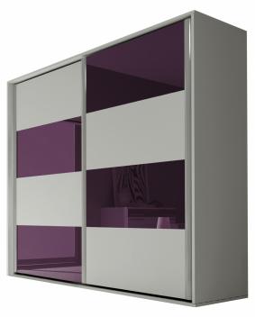 Akce - Moderní šatní skříň s posuvnými dveřmi Amabel