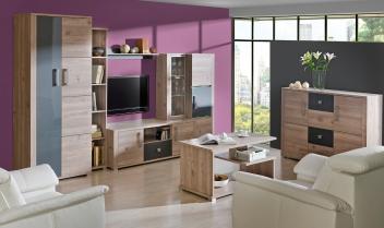 Praktická obývací stěna Diandra 2 z kvalitního lamina